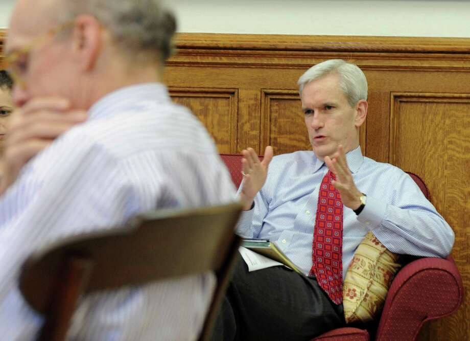 Andrew McDonald in a staff meeting with Gov. Dan Malloy at the state Capitol in Hartford, Conn. on Wednesday May 18, 2011. Photo: Kathleen O'Rourke / Stamford Advocate