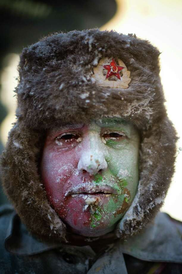 Comrade flour fighter. (Photo by David Ramos/Getty Images) Photo: David Ramos, Ap/getty / 2012 Getty Images