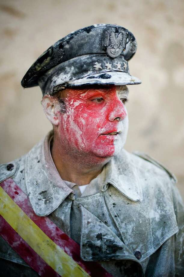 Flour mixes with face paint. (Photo by David Ramos/Getty Images) Photo: David Ramos, Ap/getty / 2012 Getty Images