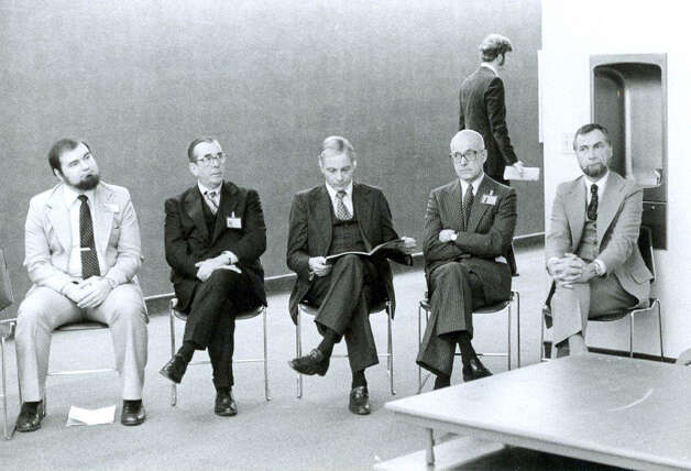 John C. Creasy is seated second from right in this photo provided by the Western Connecticut Health Network. Photo: Contributed Photo