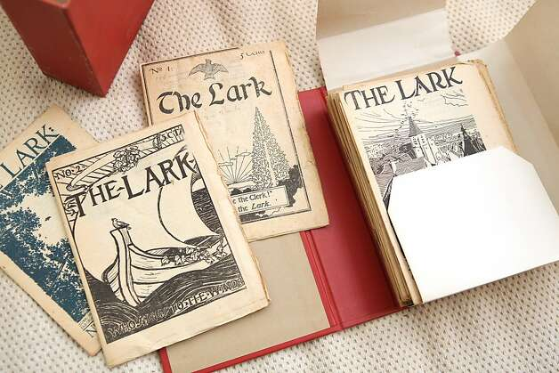 The Lark is a literary magazine from the late 1800s. Photo: Liz Hafalia, The Chronicle