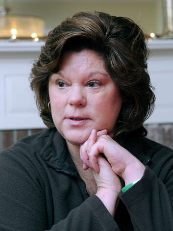 Therese Lestik talks in her Newtown home about the Sandy Hook Elementary School shooting, Wednesday, Dec. 26, 2012. Her daughter, Eva, is a kindergartner at the school. Photo: Carol Kaliff / The News-Times