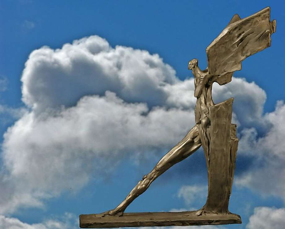 Peter Schifrin's winged bronze will be among his works on exhibit. Photo: Courtesy Of The Gallery