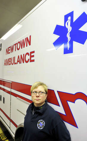 Cathy Dahlmeyer, an advanced emergency medical technician with Newtown Volunteer Ambulance Corps, was one of the first responders to the Sandy Hook Elementary School shooting on Dec. 14, 2012. Photographed on Thursday, Dec. 27, 2012. Photo: Jason Rearick / The News-Times