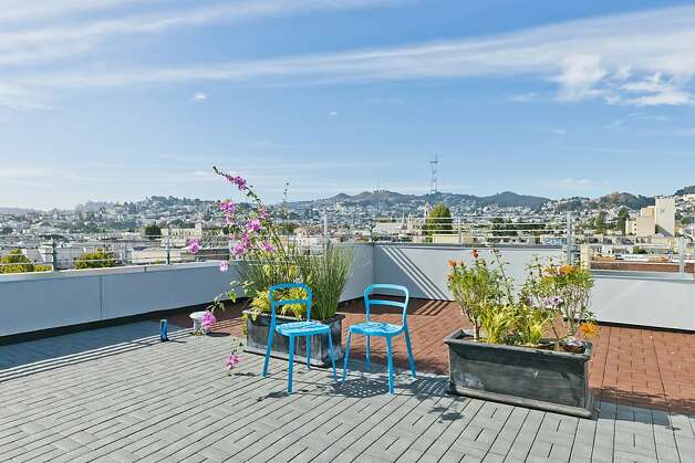 The roof deck at the top of 411 Valencia St. Photo: Vanguard Properties/SF
