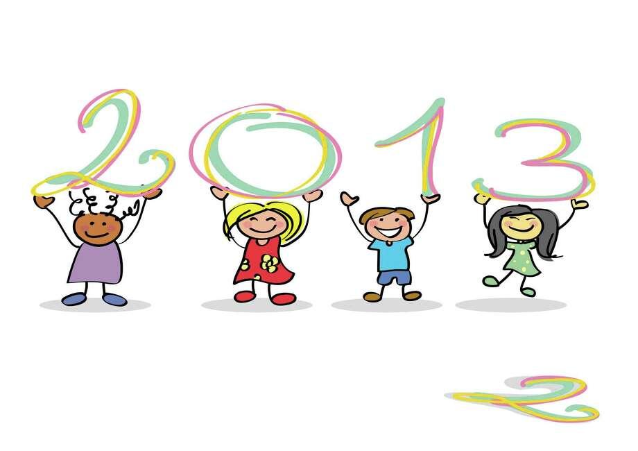 Kids celebrate 2013 Photo: --