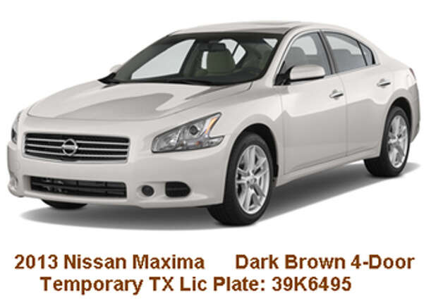The Bexar County Sheriff's Office believes Narada Goodrum, 33, traded in a Mazda he used to flee after allegedly killing his wife Thursday for a 2013 Nissan Maxima, similar to the one pictured.