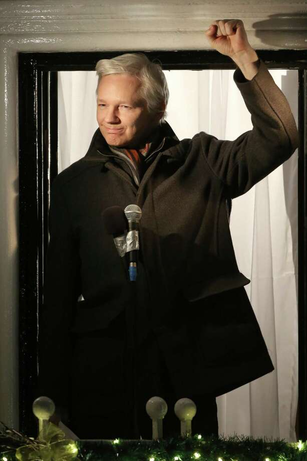 Wikileaks founder Julian Assange speaks from the Ecuadorian Embassy on Dec. 20, 2012 in London, England. Assange was interviewed by Sean Hannity on Fox News on Jan. 3, 2017, where he revealed his source for Hillary Clinton's emails were not from Russia.Click through the slideshow to see some of Clinton's emails that have been released to the public. Photo: Peter Macdiarmid, Staff / 2012 Getty Images