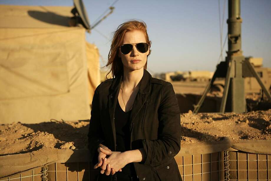 "Jessica Chastain in Kathryn Bigelow's ""Zero Dark Thirty."" Photo: Jonathan Olley, Associated Press"
