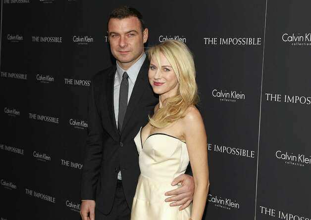 "Naomi Watts and Liev Schreiber attend a screening of ""The Impossible"" in New York. The couple's young sons were with Watts on the movie set, along with children in the cast. ""The kids were all extraordinary,"" Watts says. Photo: Getty Images / Invision"