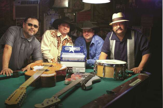 Los Texmaniacs (left to right): Óscar García, David Farías, Max Baca Jr. and Lorenzo Martínez.