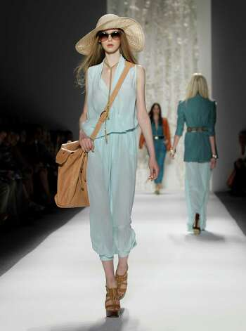 A model wears a design from the Rachel Zoe Spring 2013 collection at Fashion Week in New York. Photo: Associated Press / AP