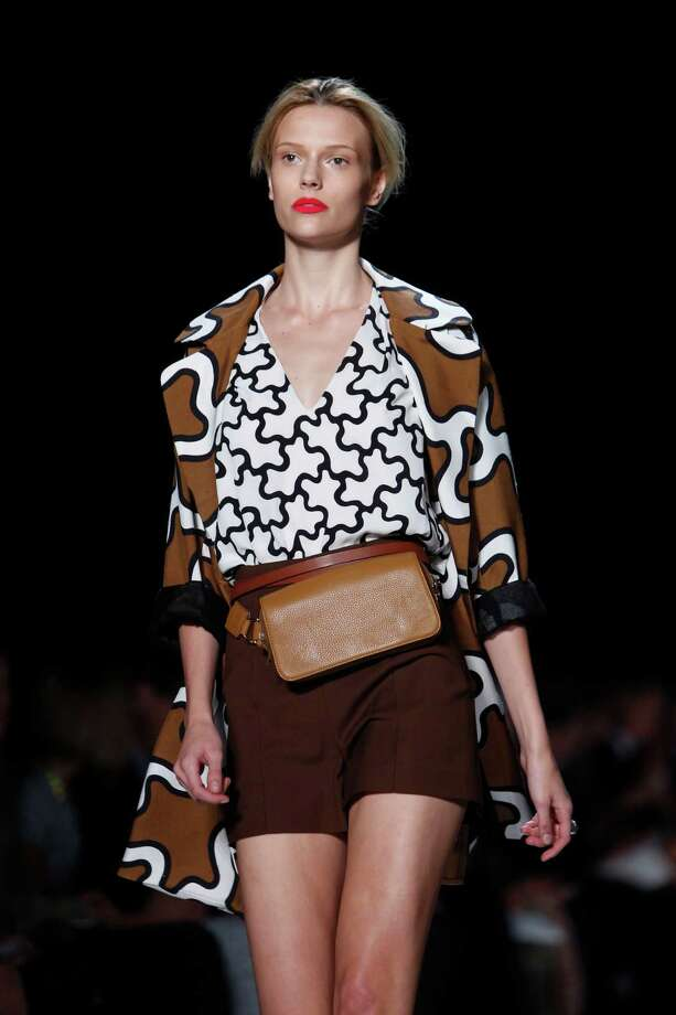 A design from the Diane von Furstenberg spring 2011 collection is modeled during Fashion Week in New York. Photo: Associated Press / AP
