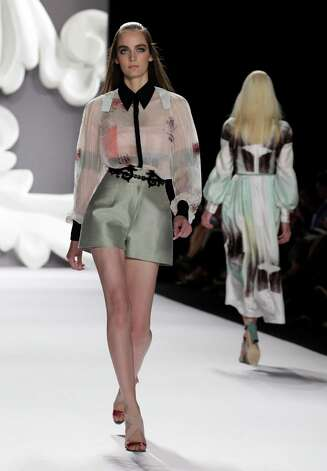 The Carolina Herrera Spring 2013 collection is modeled during Fashion Week in New York. Photo: Associated Press / AP
