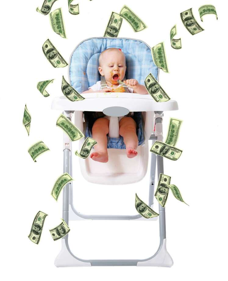 According to a recent BabyCenter.com survey of moms, your baby's first year could cost more than $10,000, including childcare. But you really don't need it all. You can save a lot with equipment that does double-duty or buy second-hand. Photo: Baby;Daniel Troutman/iStock;Money;Aleksander Kovaltchuk/dreamstime.com, IStockphoto.com / ©iStockphoto.com