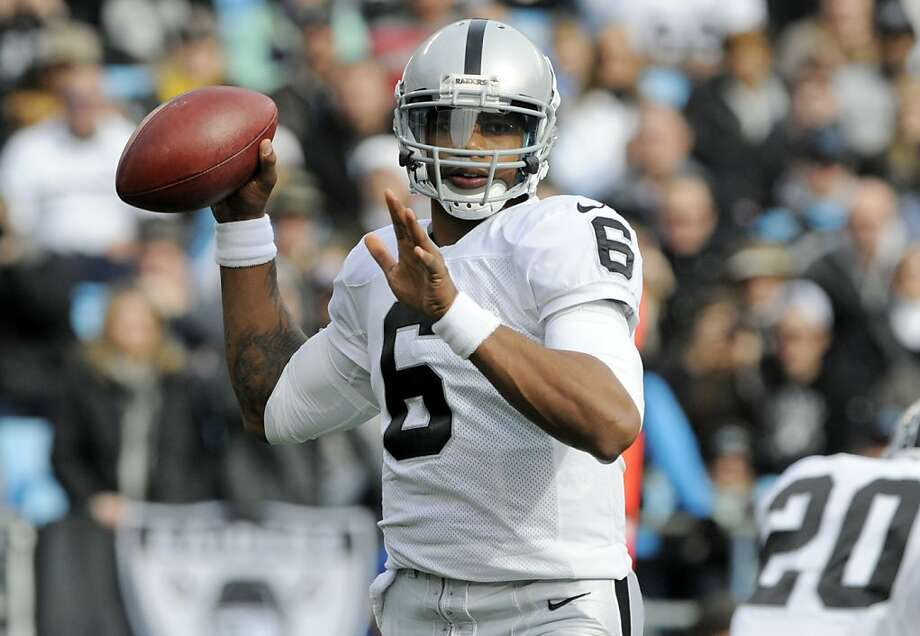 Terrelle Pryor says he has a firm grasp of the playbook and is ready to take charge. Photo: Mike McCarn, Associated Press