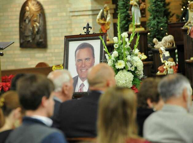 "A Memorial Service was held for KFDM veteran journalist and anchorman William ""Bill"" Leger Jr. Friday December 28, 2012, at Saint Jude Thaddeus Catholic Church in Beaumont. A large portrait was positioned in front of the alter. He was laid to rest earlier in the week in his hometown of Kinder Louisiana.  Dave Ryan/The Enterprise Photo: Dave Ryan"