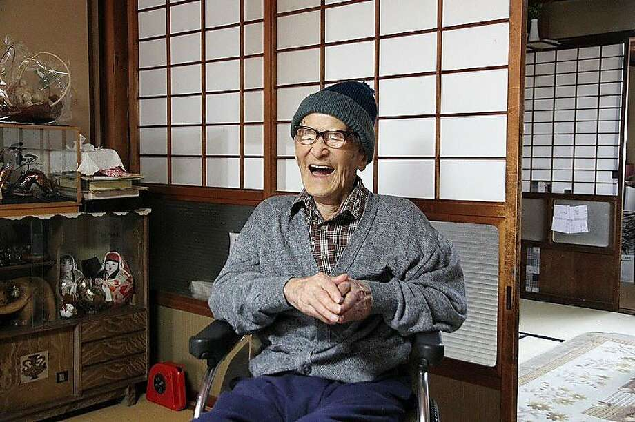 Jiroemon Kimura is the oldest man in history, and the oldest living person, according to Guinness. A 115-year-old woman in Japan is second-oldest. Photo: Kyotango City Hall, Bloomberg