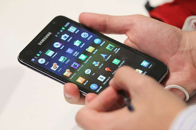 Samsung, which is being sued by Apple over alleged copyright infringement, has agreed not to sell one of its smartphones in the United States. Photo: Sean Gallup, Getty Images