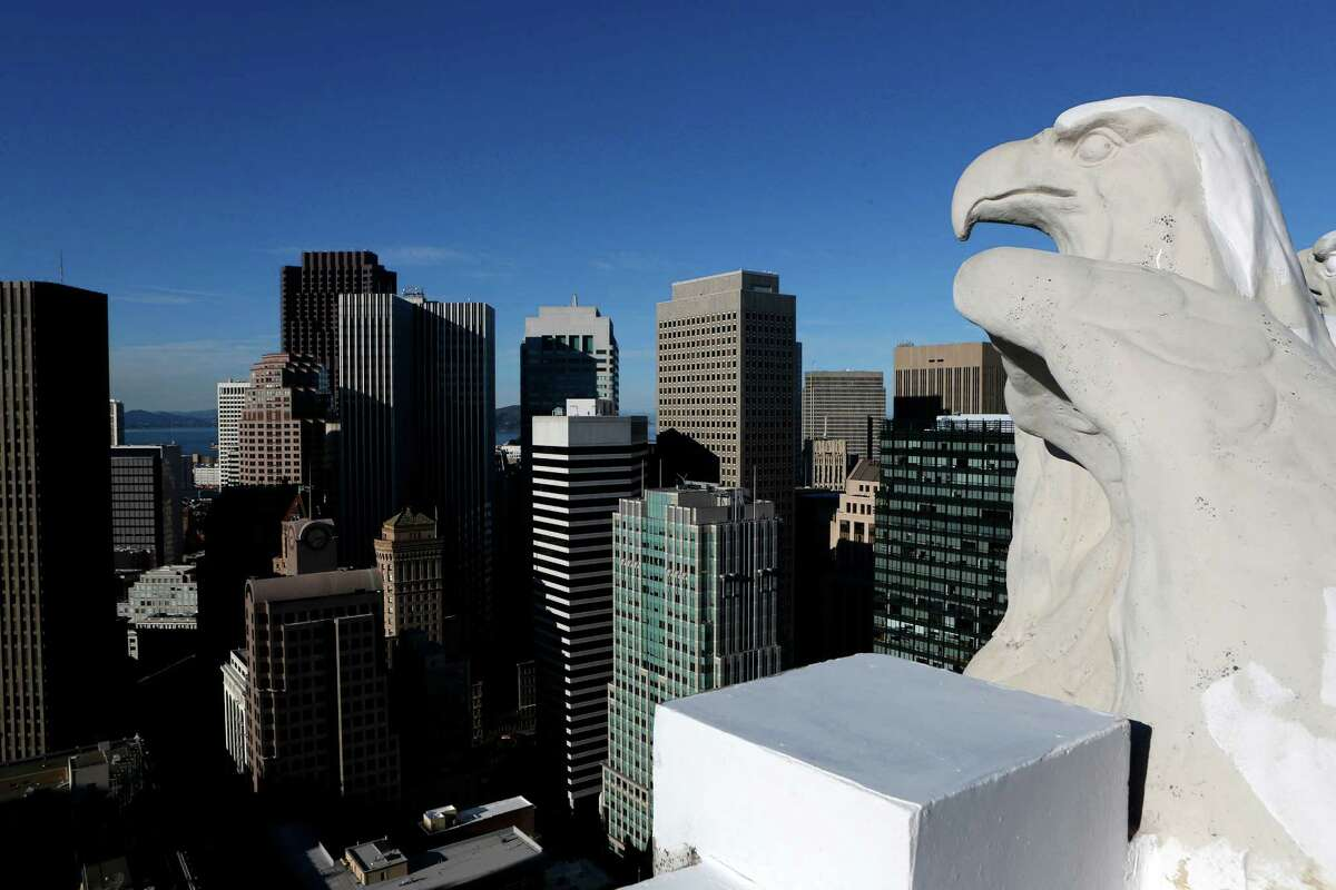 The old Pacific Telephone Building is going under renovation on Wednesday, December 19, 2012 in San Francisco, Calif.