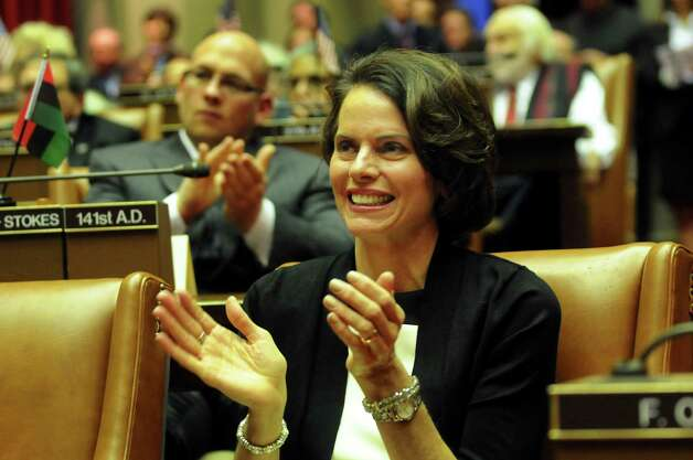 Incoming Assemblywoman Patricia Fahy applauds during the swearing-in ceremony on Friday, Dec. 28, 2012, at the Capitol in Albany, N.Y. (Cindy Schultz / Times Union)l Photo: Cindy Schultz / 00020597A
