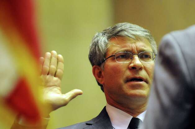 Incoming Assemblyman Phil Steck takes the Oath of Office on Friday, Dec. 28, 2012, at the Capitol in Albany, N.Y. (Cindy Schultz / Times Union)l Photo: Cindy Schultz / 00020597A
