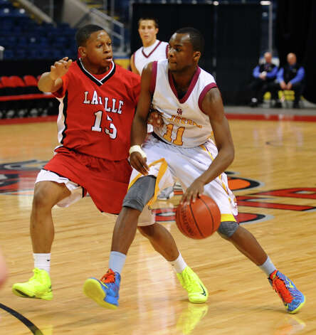 Northeast Christmas Classic basketball tournament action between St. Jospeh and LaSalle Academy at Webster Bank Arena in Bridgeport, Conn. on Frday December 28, 2012. Photo: Christian Abraham / Connecticut Post