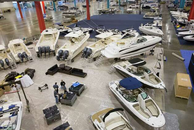 The Houston Boat Show is set up Dec. 28, 2012 in Houston. Photo: Eric Kayne, For The Chronicle / © 2012 Eric Kayne