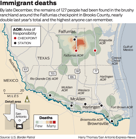 Immigrant deaths soar in South Texas - San Antonio Express-News