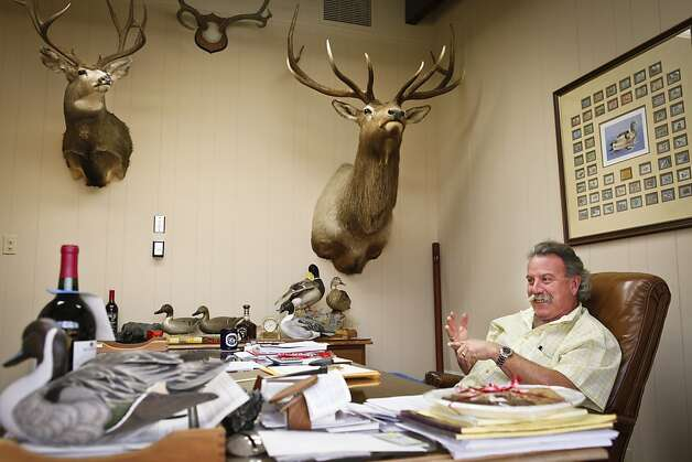Marc Mondavi, vice president of Charles Krug Winery, talks about hunting on Monday, Dec. 3, 2012 in his St. Helena, Calif., office. Photo: Russell Yip, The Chronicle