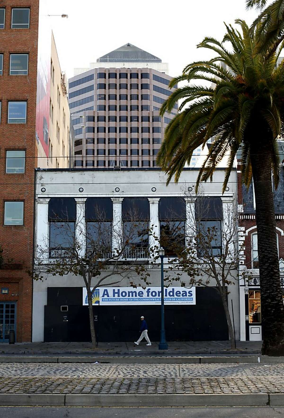 The future home of the Commonwealth Club is on The Embarcadero in San Francisco, Calif., Monday, December 24, 2012.