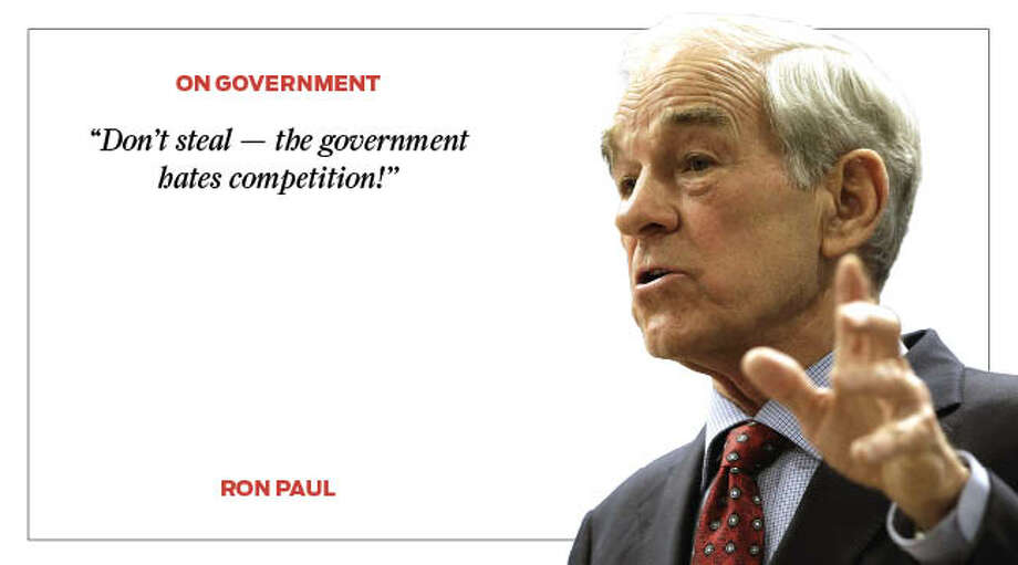 Take a look back at some of the most outrageous quotes and statements from Ron Paul. Photo: Houston Chronicle