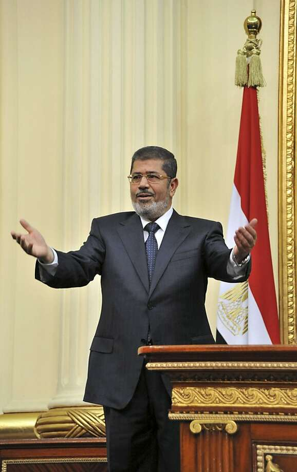 President Mohammed Morsi says the nation must focus on work. Photo: Anonymous, Associated Press