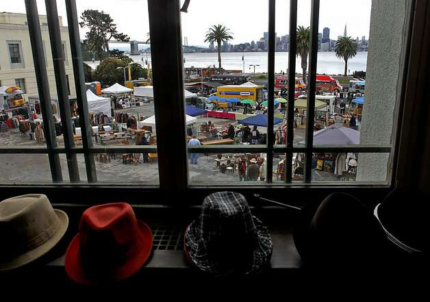 S&G Enterprise Vintage Clothing is among the vendors at the Treasure Island flea market. Photo: Michael Macor, The Chronicle