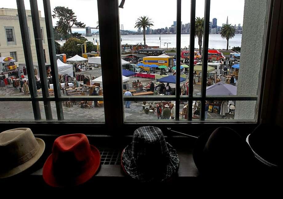 S&G Enterprise Vintage Clothing is among the vendors at the Treasure Island flea market. Photo: Michael Macor, The Chronicle