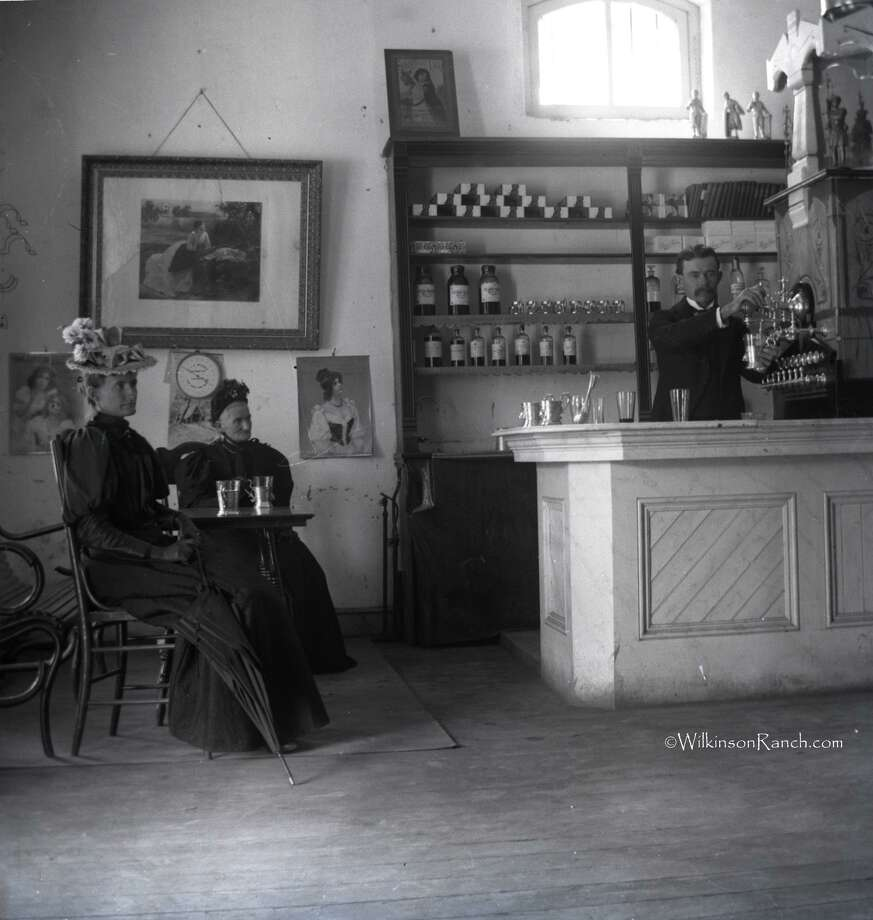 This 1890s soda fountain might have been in San Antonio. Photo: Courtesy Wilkinson Ranch