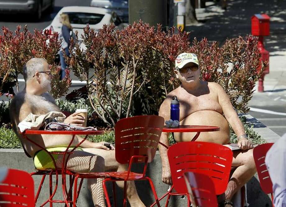 The Naked Guys -- in the Castro.  Great suggestion.  Do we have a winner?