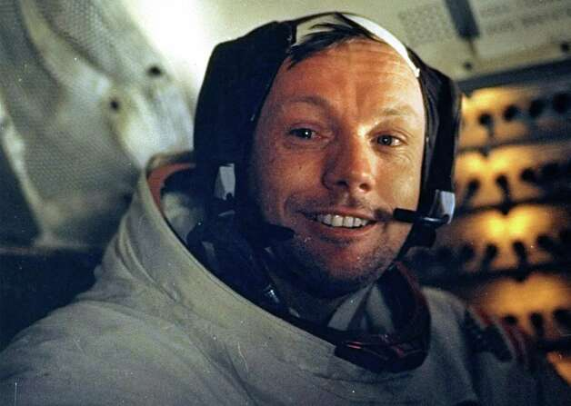 This photograph of Astronaut Neil A. Armstrong, Apollo 11 commander, was taken inside the Lunar Module while the LM rested on the lunar surface July 20, 1969.  Astronauts Armstrong and Edwin E. Aldrin Jr., lunar module Pilot, had already completed their extravehicular activity when this picture was made. (AP Photo/NASA). Photo: Handout / NASA