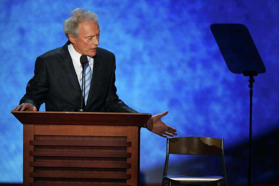 Actor Clint Eastwood speaks during the final day of the Republican National Convention at the Tampa Bay Times Forum on August 30, 2012 in Tampa, Florida. Former Massachusetts Gov. Mitt Romney was nominated as the Republican presidential candidate during the RNC which will conclude today. Photo: Mark Wilson, Getty Images / 2012 Getty Images