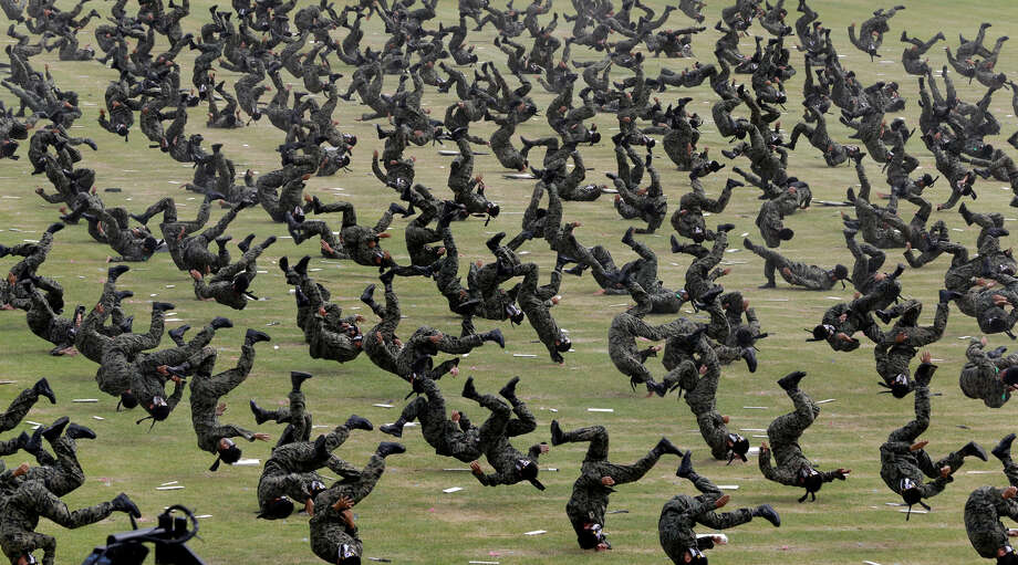 In this Sept. 26, 2012 file photo, South Korean special army soldiers demonstrate their martial arts skills during the 64th anniversary of Armed Forces Day at the Gyeryong military headquarters in Gyeryong, south of Seoul, South Korea. Photo: Lee Jin-man, ASSOCIATED PRESS / The Associated Press2012