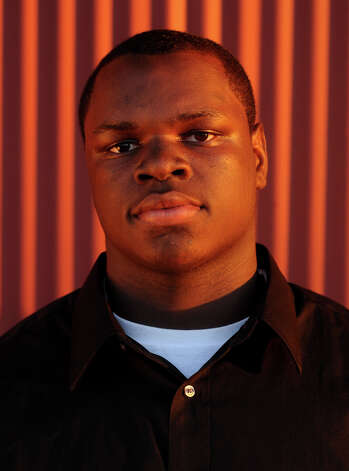 "Lineman Vernon Samuels, so., Port Arthur Memorial His style: ""Strong, fast, aggressive, smart, talented."" Photo by: Guiseppe Barranco/The Enterprise  Not pictured Lineman Tyler Howlett, sr., Little Cypress-Mauriceville Photo: Guiseppe Barranco, STAFF PHOTOGRAPHER / The Beaumont Enterprise"