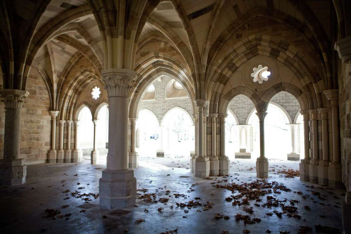 The New Clairvaux Abbey Chapter House in Vina, Calif., was rebuilt with stones from a monastery brought from Spain by William Randolph Hearst in the 1930s.