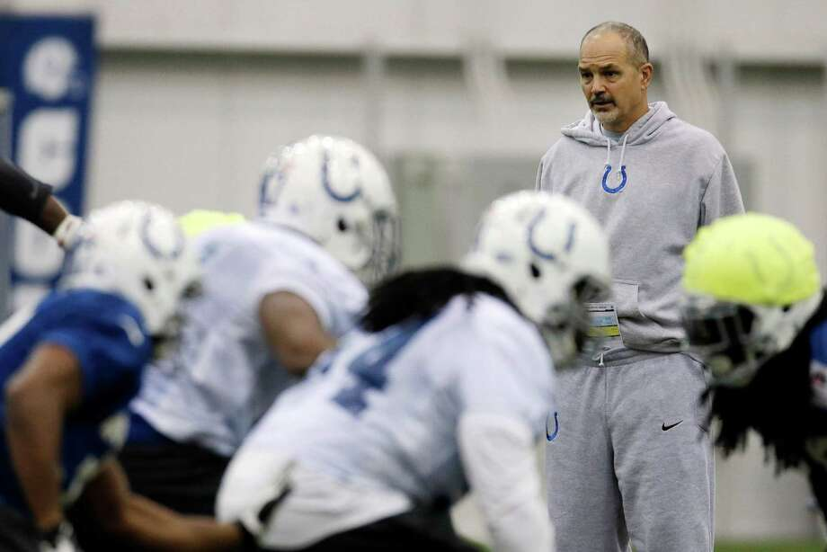 Indianapolis Colts coach Chuck Pagano was diagnosed with leukemia Sept. 26. He returned to his first practice Dec. 24. Photo: Darron Cummings, STF / AP