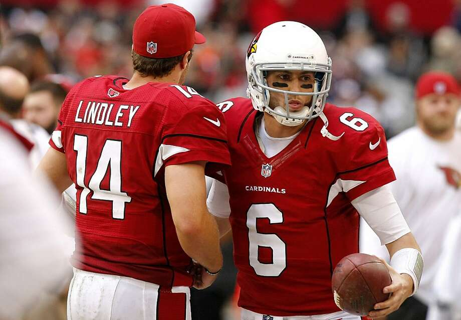 Arizona Cardinals quarterback Brian Hoyer (6) replaces teammate Ryan Lindley during the second half of an NFL football game, Sunday, Dec. 23, 2012, in Glendale, Ariz. (AP Photo/Rick Scuteri) Photo: Rick Scuteri, Associated Press