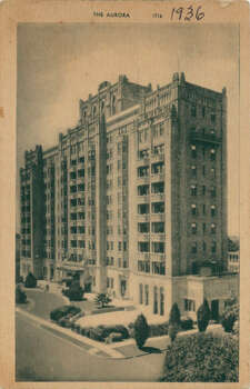 The Aurora Apartments at 509 Howard St. are seen in 1936. Photo: Courtesy Photo