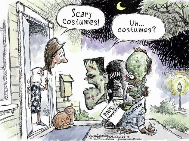 Scare characters (Nick Anderson / Houston Chronicle)