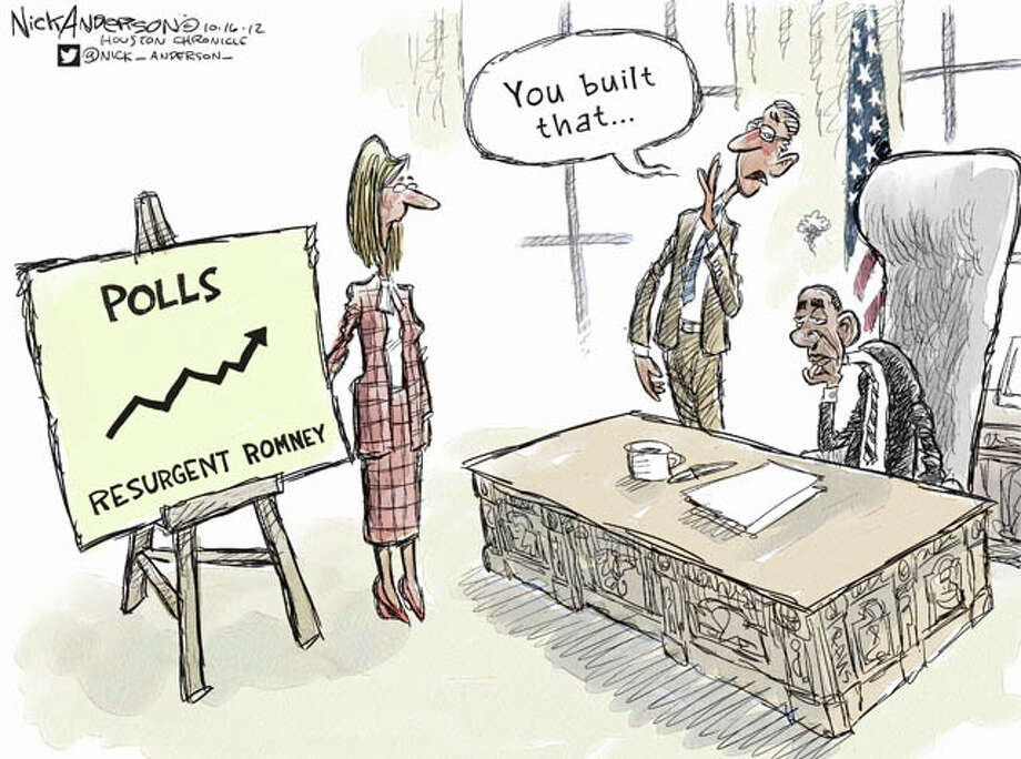 Mittmentum after first presidential debate (Nick Anderson / Houston Chronicle)