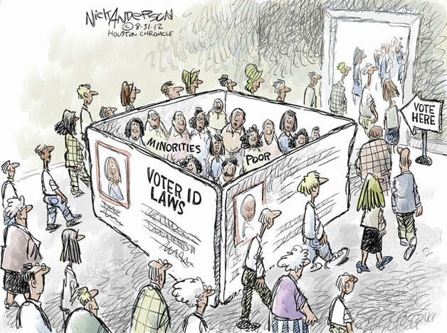 Voter ID (Nick Anderson / Houston Chronicle)