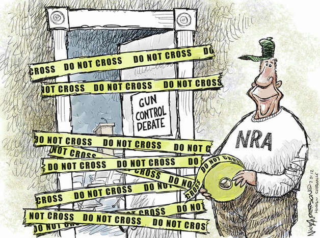 Gun Debate (Nick Anderson / Houston Chronicle)