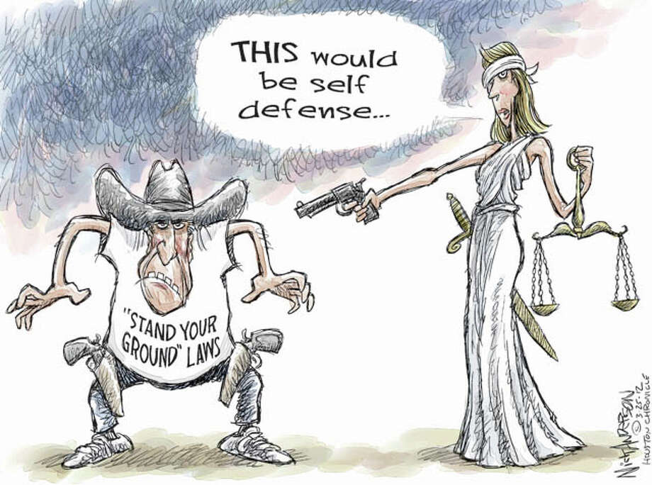 Stand your ground (Nick Anderson / Houston Chronicle)